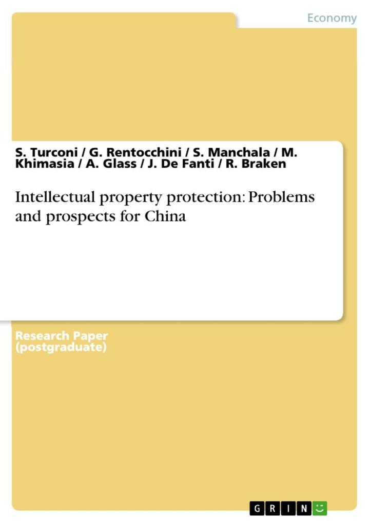 Intellectual property protection: Problems and prospects for China als eBook epub