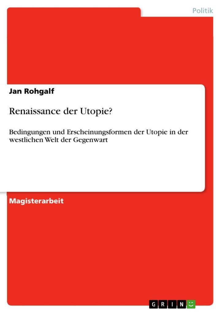 Renaissance der Utopie? als eBook Download von ...