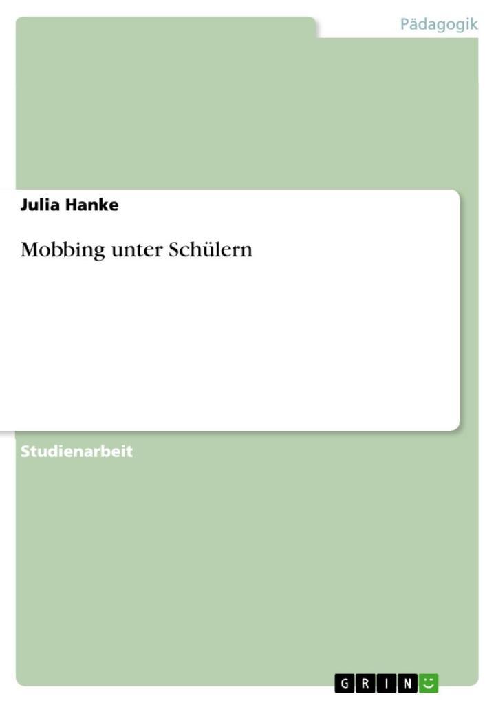 Mobbing unter Schülern als eBook Download von J...