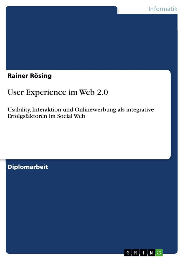 User Experience im Web 2.0 als eBook Download v...