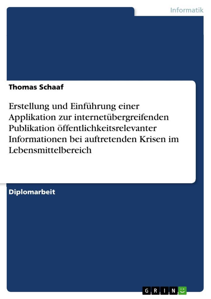 Erstellung und Einführung einer Applikation zur...