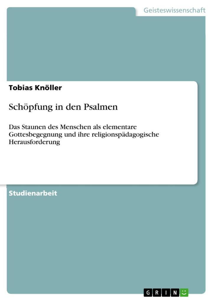 Schöpfung in den Psalmen als eBook Download von...