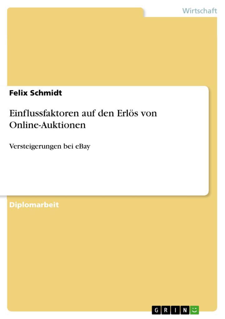 Einflussfaktoren auf den Erlös von Online-Aukti...