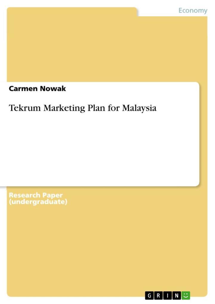Tekrum Marketing Plan for Malaysia als eBook Do...