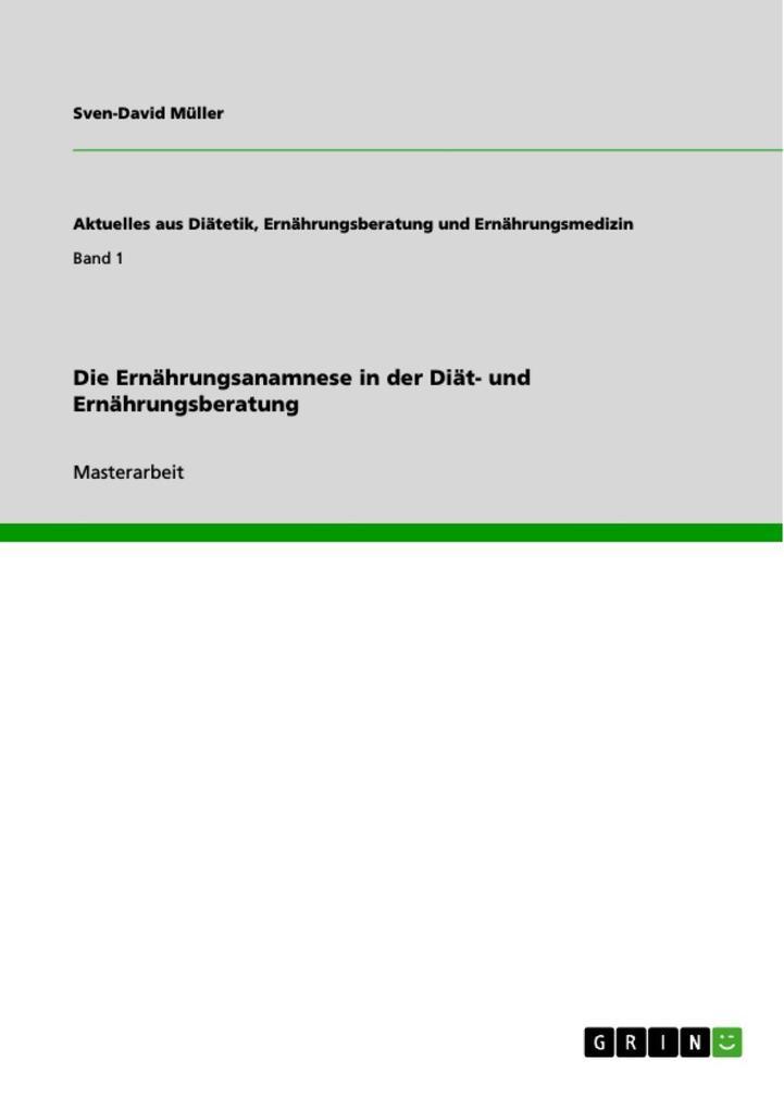 Die Ernährungsanamnese in der Diät- und Ernähru...