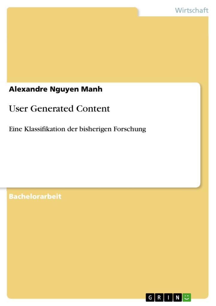 User Generated Content als eBook Download von A...