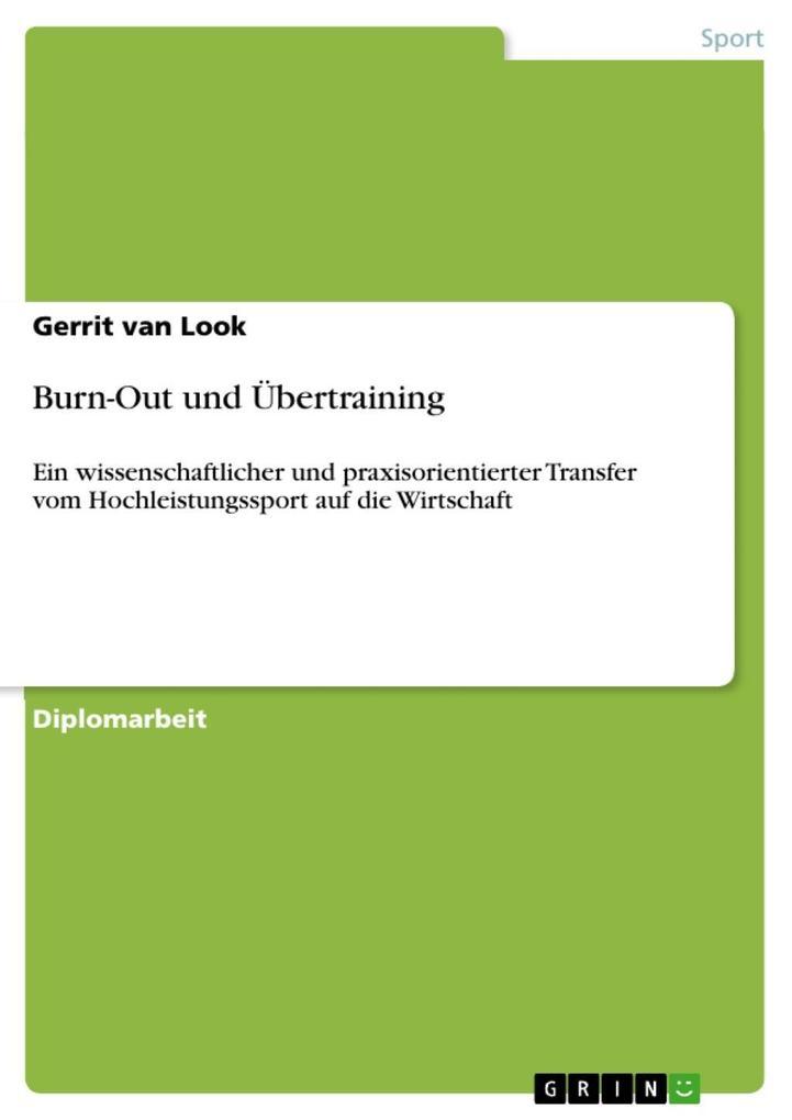 Burn-Out und Übertraining als eBook Download vo...