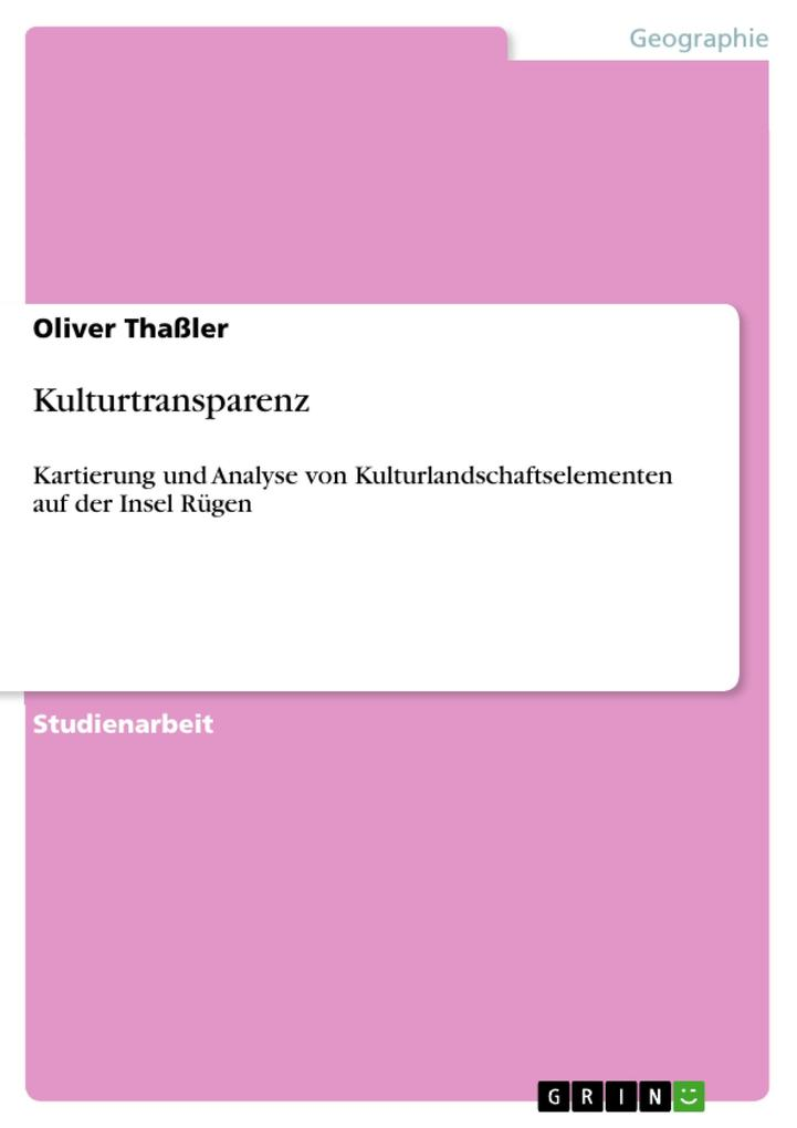 Kulturtransparenz als eBook Download von Oliver...