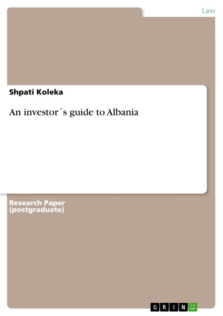 An investor´s guide to Albania als eBook Downlo...