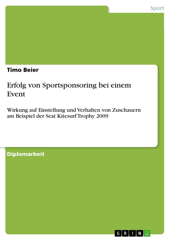 Erfolg von Sportsponsoring bei einem Event als ...