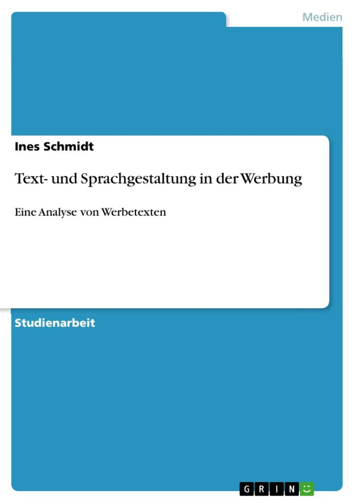 Text- und Sprachgestaltung in der Werbung als eBook
