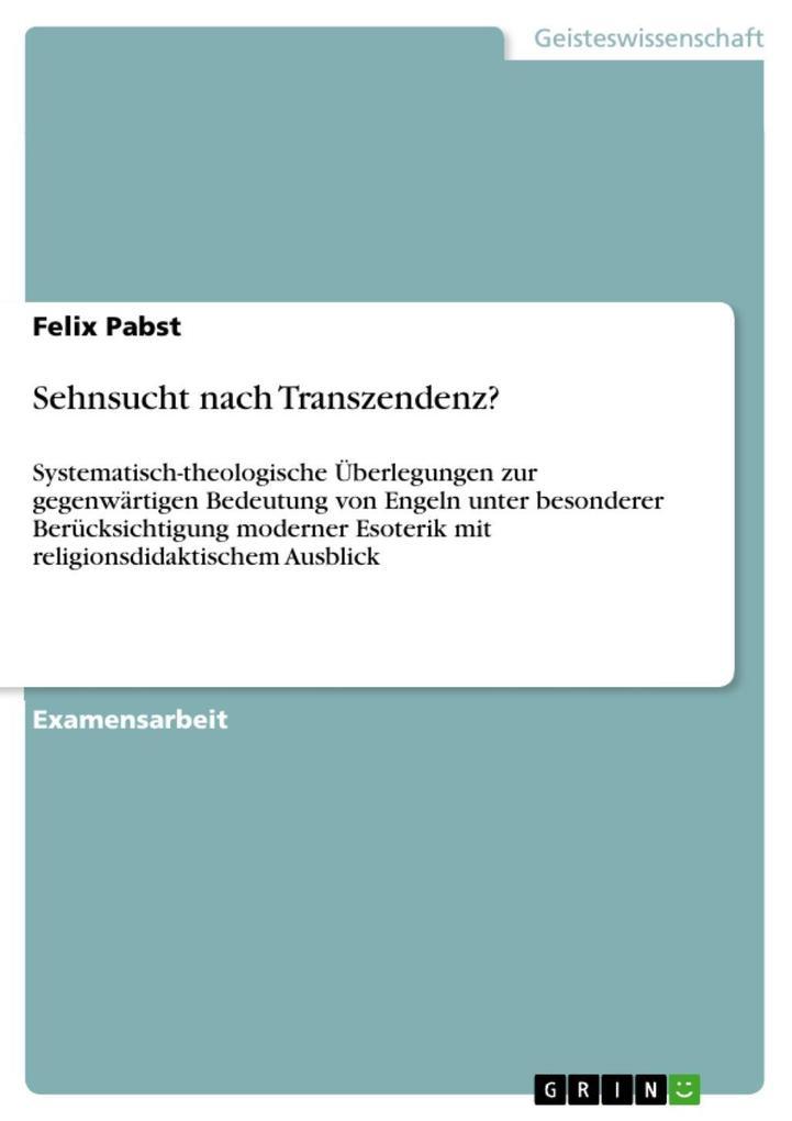 Sehnsucht nach Transzendenz? als eBook Download von Felix Pabst - Felix Pabst