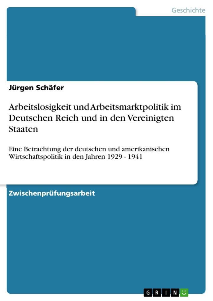 Arbeitslosigkeit und Arbeitsmarktpolitik im Deu...