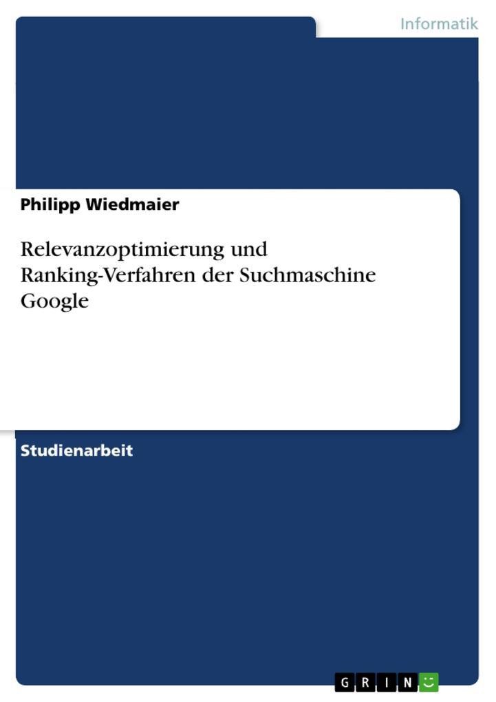 Relevanzoptimierung und Ranking-Verfahren der S...