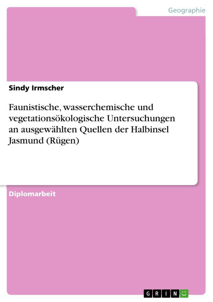 Faunistische, wasserchemische und vegetationsök...