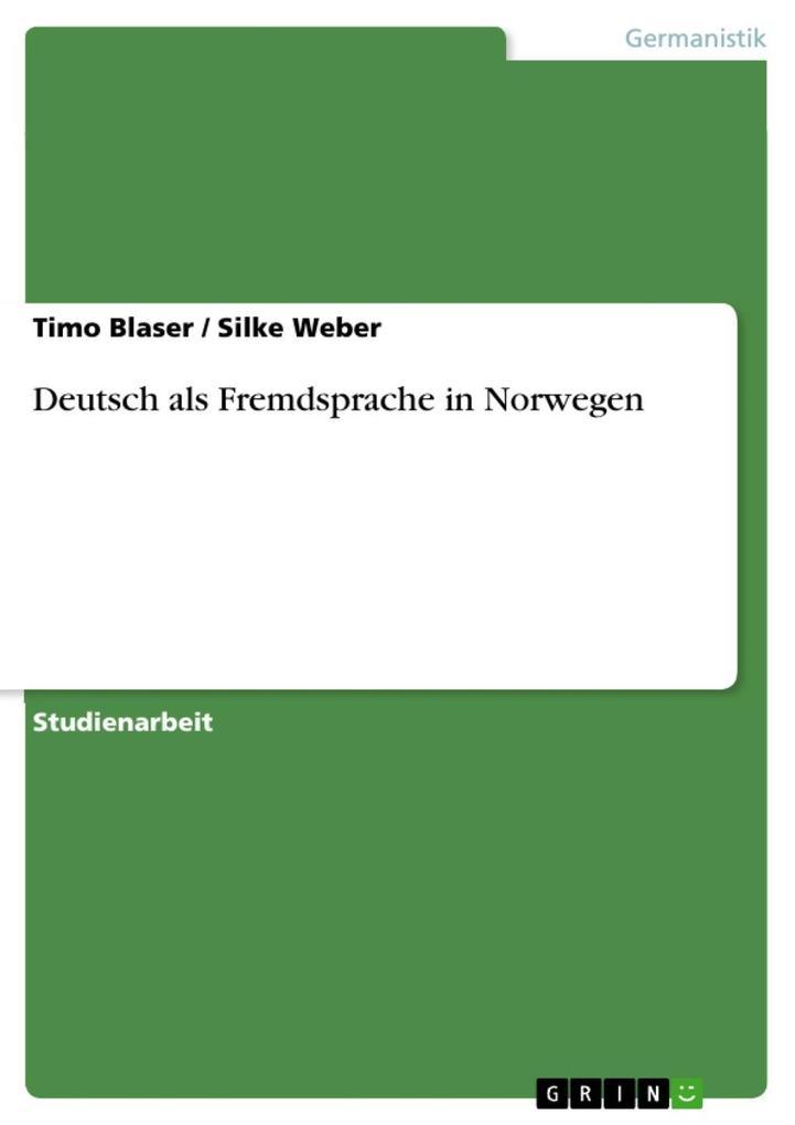 Deutsch als Fremdsprache in Norwegen als eBook ...