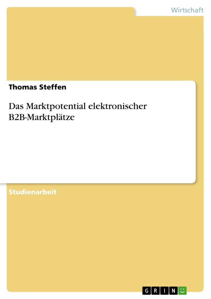 Das Marktpotential elektronischer B2B-Marktplät...