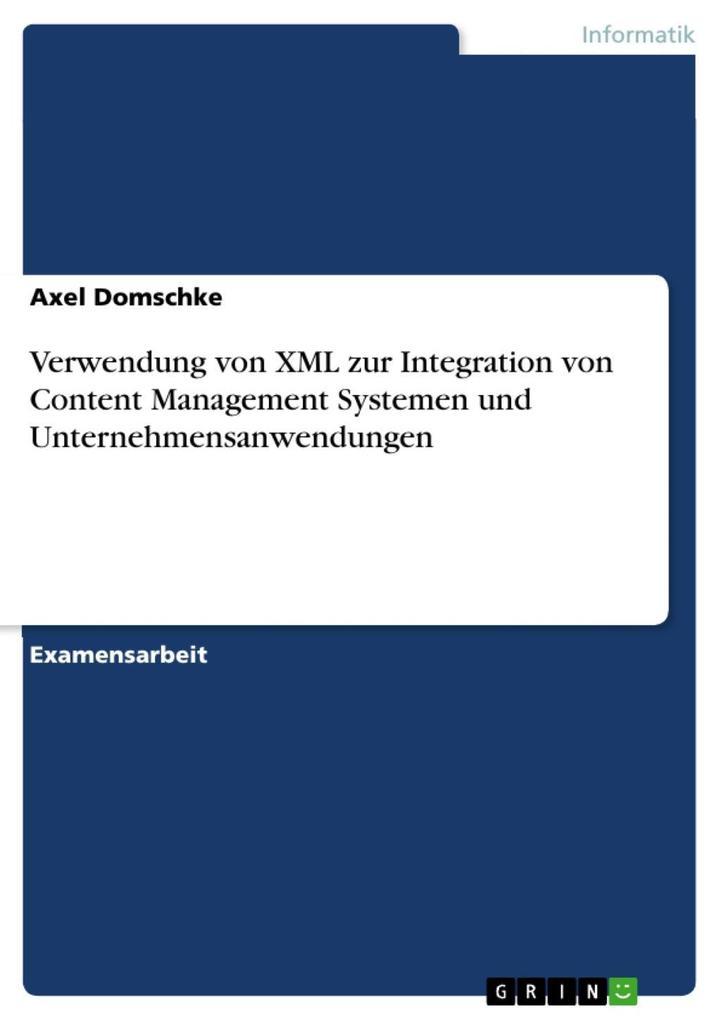 Verwendung von XML zur Integration von Content ...