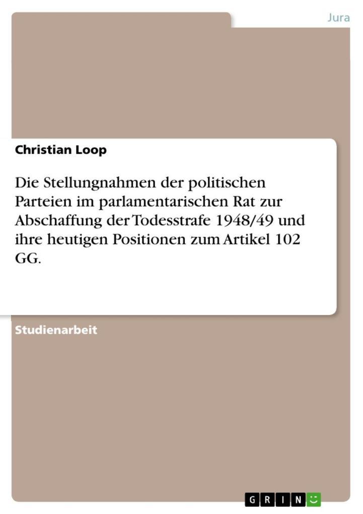 Die Stellungnahmen der politischen Parteien im ...