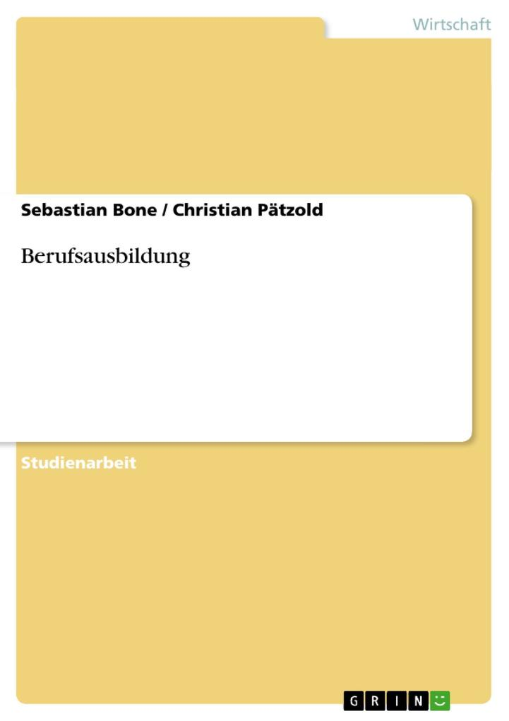 Berufsausbildung als eBook Download von Sebasti...