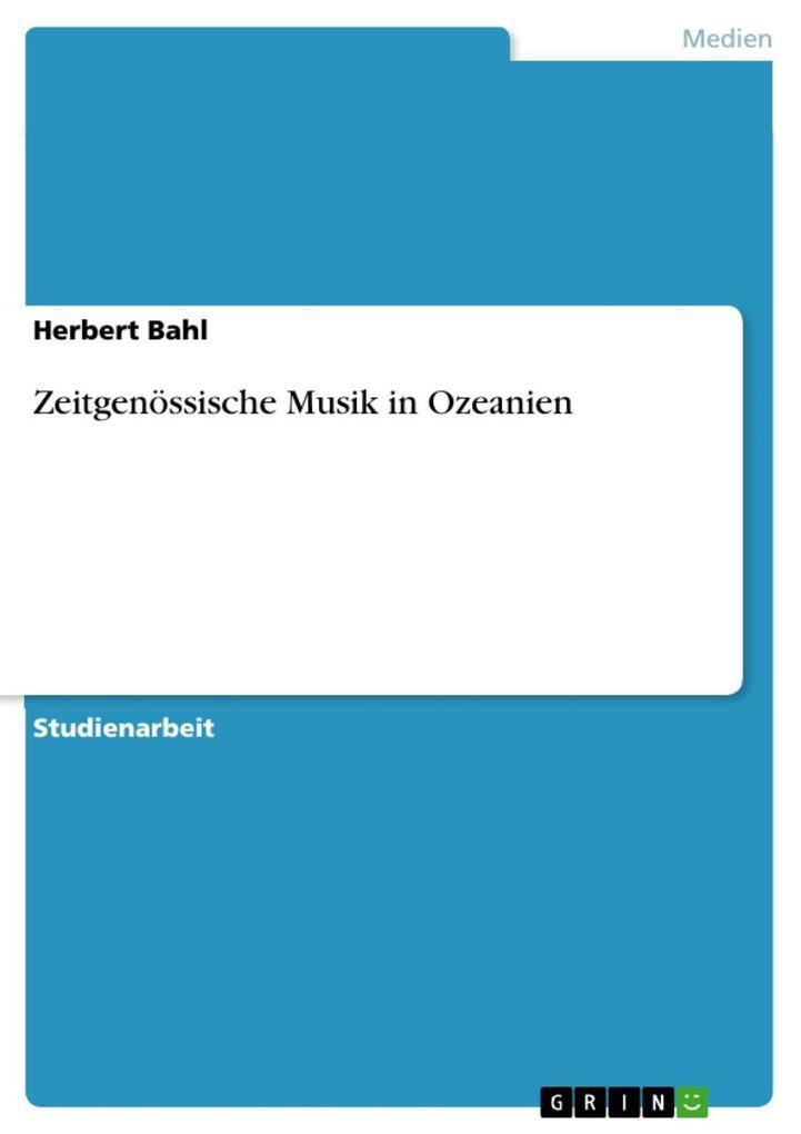 Zeitgenössische Musik in Ozeanien als eBook Dow...