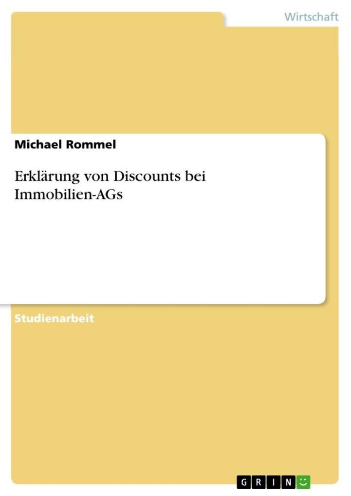 Erklärung von Discounts bei Immobilien-AGs als ...