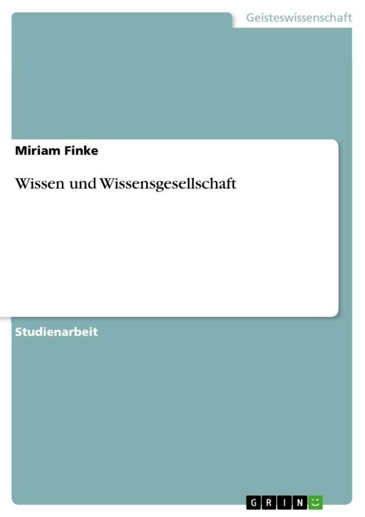 Wissen und Wissensgesellschaft als eBook Downlo...