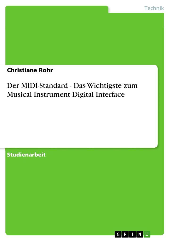 Der MIDI-Standard - Das Wichtigste zum Musical ...