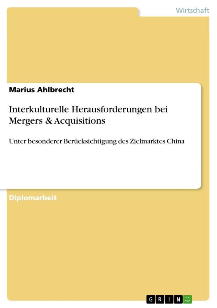 Interkulturelle Herausforderungen bei Mergers &...
