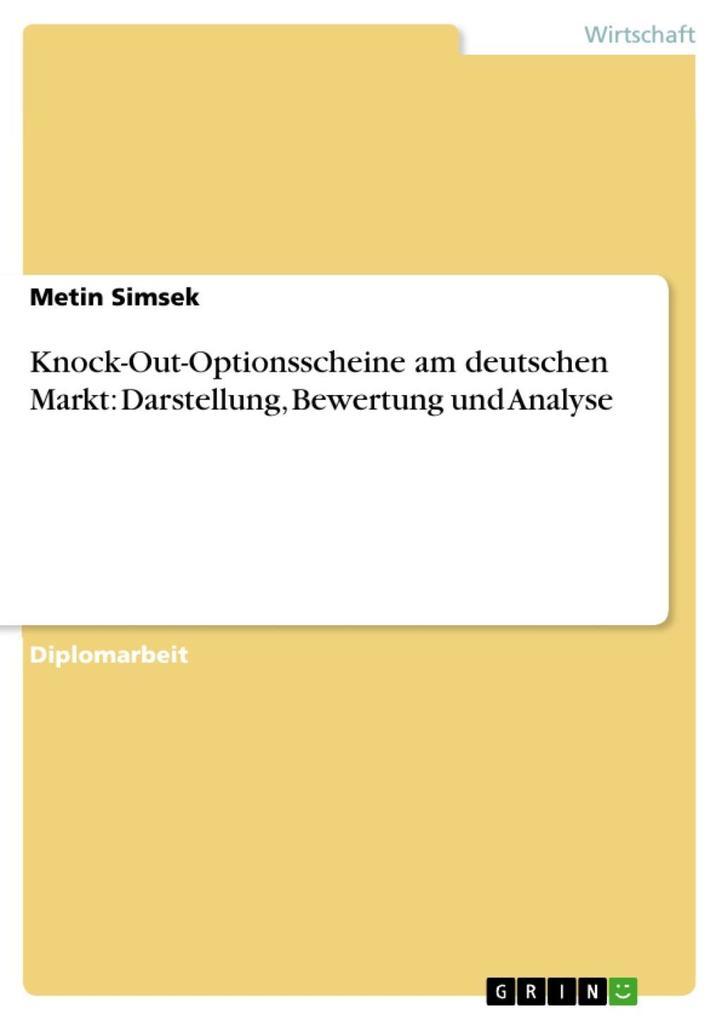 Knock-Out-Optionsscheine am deutschen Markt: Da...