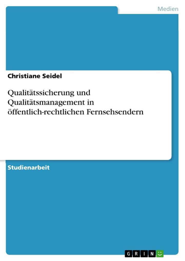 Qualitätssicherung und Qualitätsmanagement in ö...