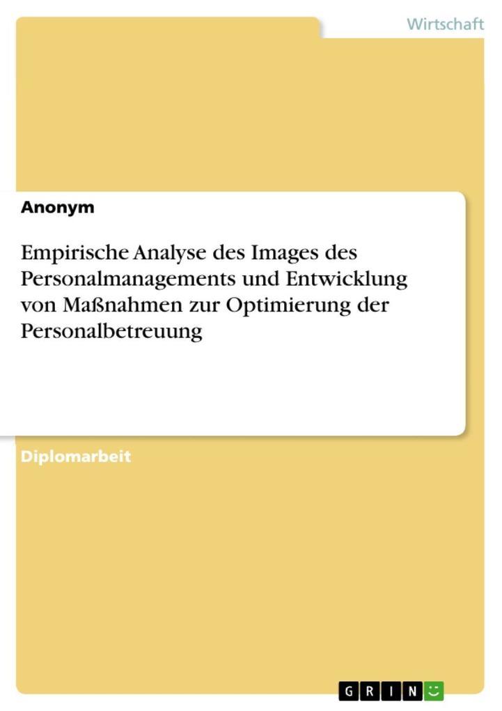 Empirische Analyse des Images des Personalmanag...