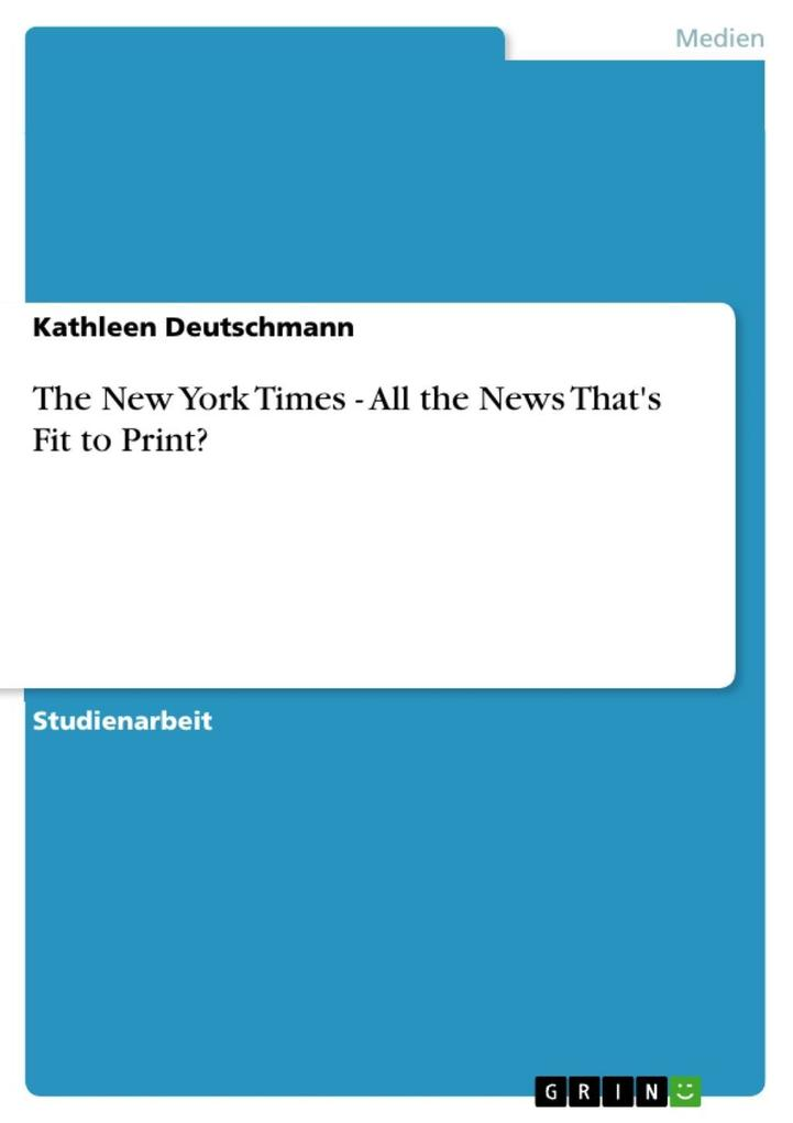 The New York Times - All the News That´s Fit to...
