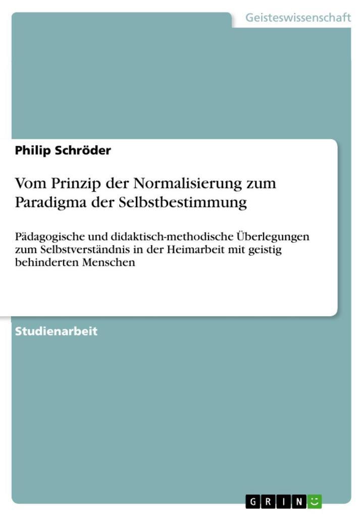 Vom Prinzip der Normalisierung zum Paradigma de...