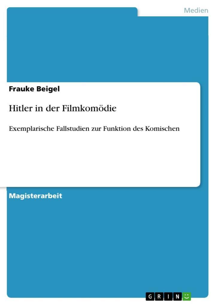 Hitler in der Filmkomödie als eBook Download vo...