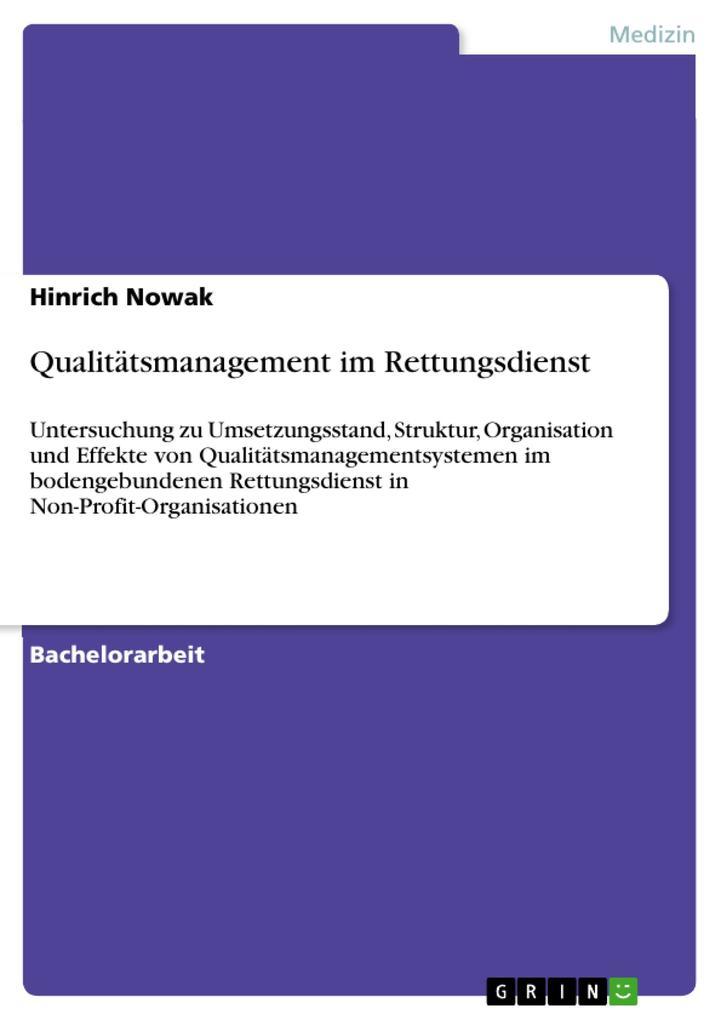 Qualitätsmanagement im Rettungsdienst als eBook...