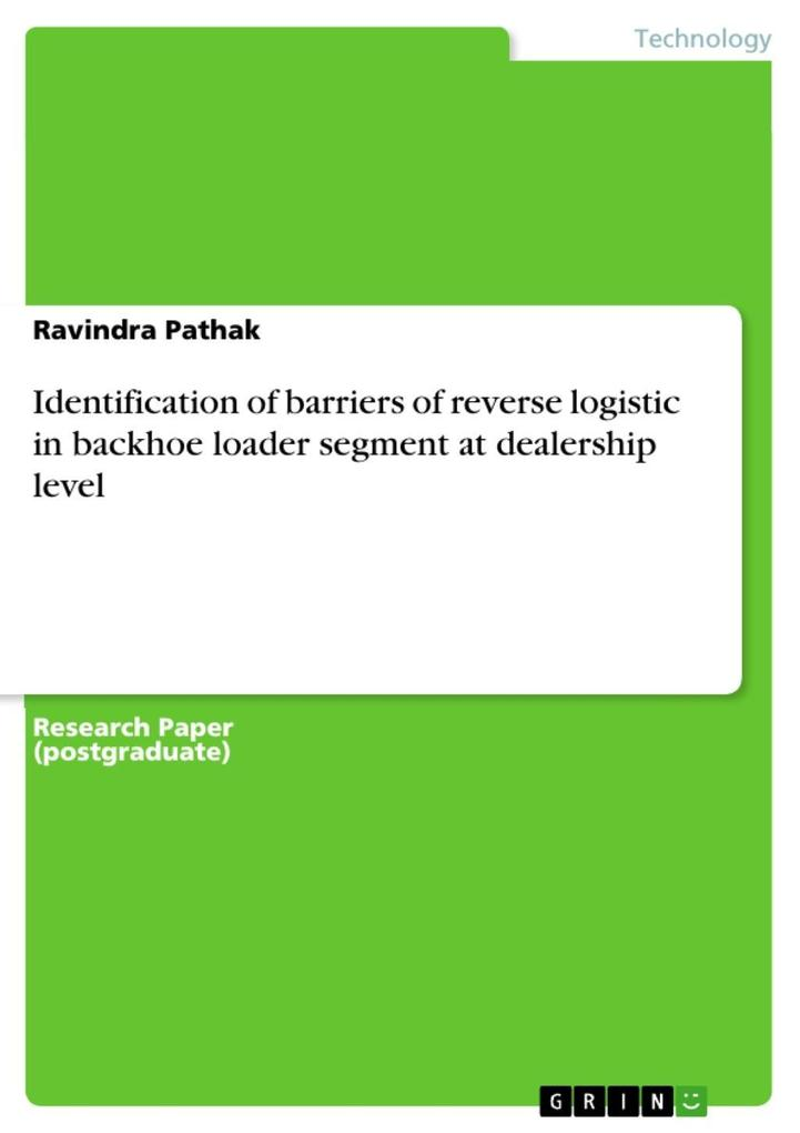 Identification of barriers of reverse logistic ...
