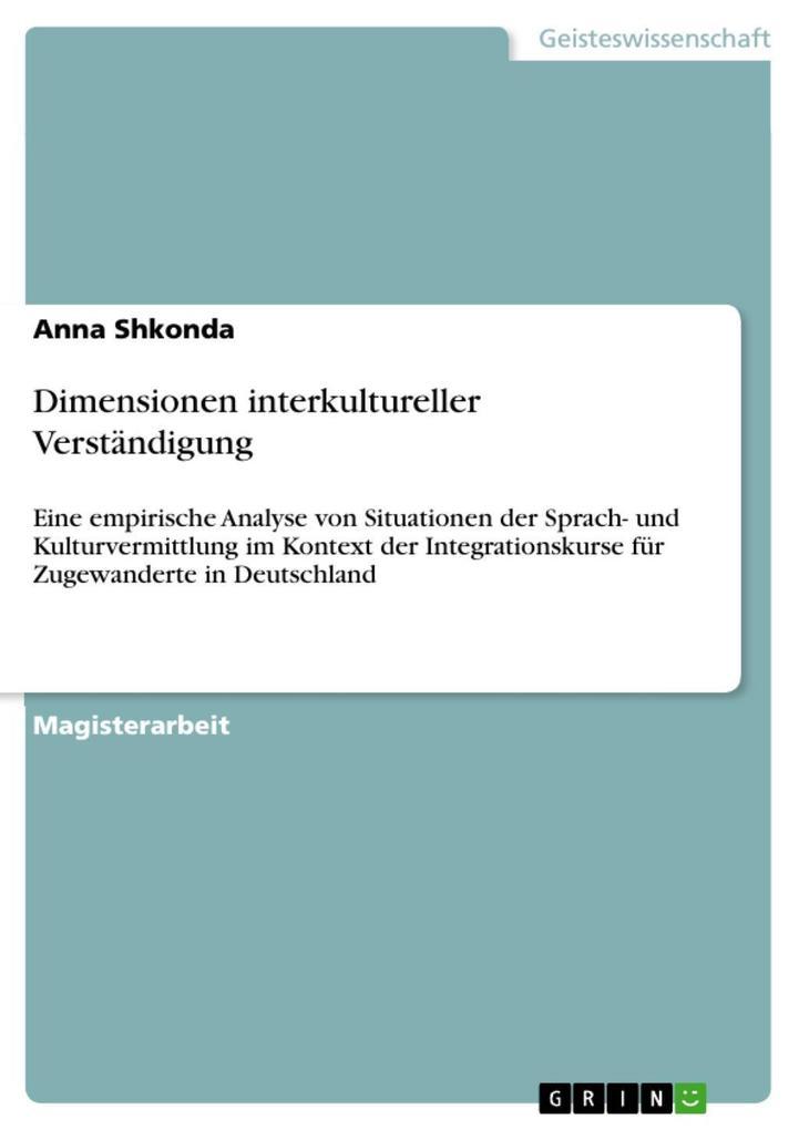 Dimensionen interkultureller Verständigung als ...