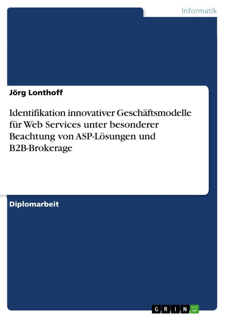 Identifikation innovativer Geschäftsmodelle für...