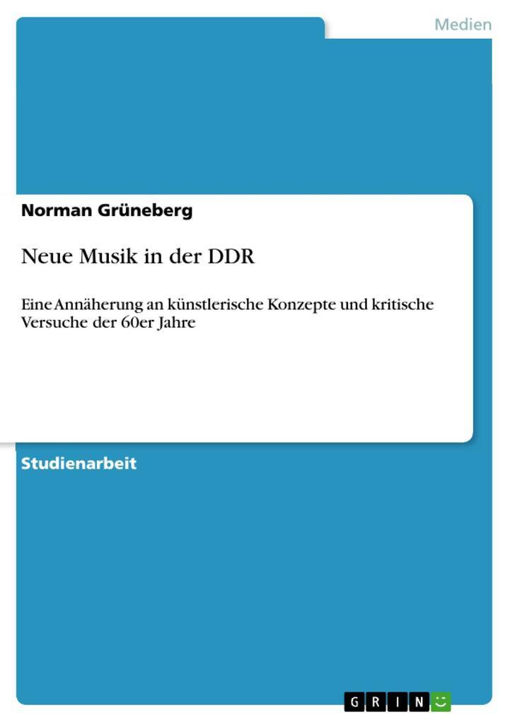 Neue Musik in der DDR als eBook Download von No...