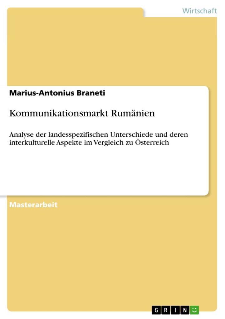 Kommunikationsmarkt Rumänien als eBook Download...
