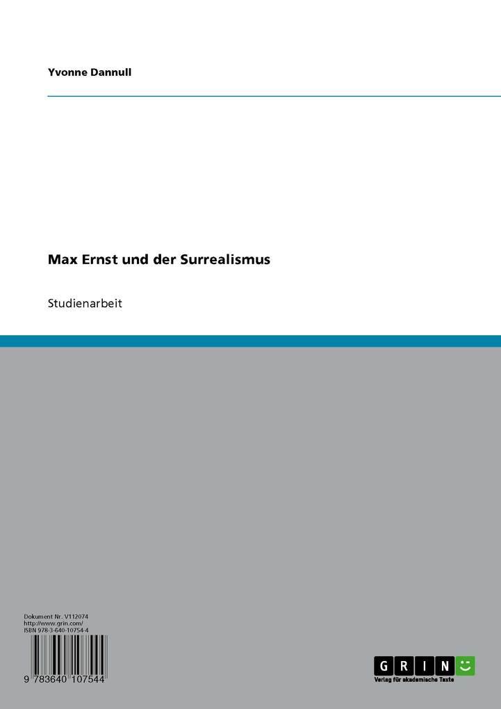 Max Ernst und der Surrealismus als eBook Download von Yvonne Dannull - Yvonne Dannull