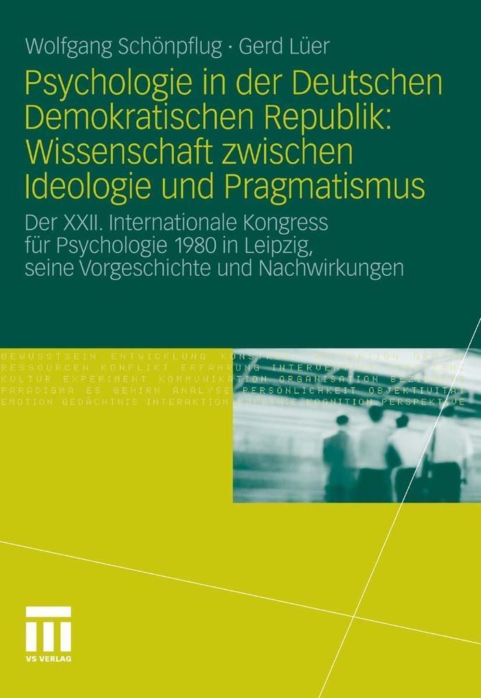 Psychologie in der Deutschen Demokratischen Rep...