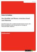 Der Konflikt um Wasser zwischen Israel und Palästina