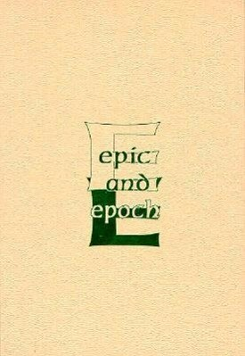 Epic and Epoch: History of a Genre als Buch