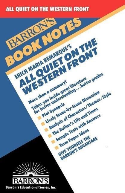 Erich Maria Remarque's All Quiet on the Western Front als Taschenbuch