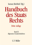 Handbuch des Staatsrechts Band IX
