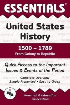 United States History: 1500 to 1789 Essentials als Taschenbuch