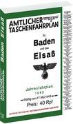 Amtlicher Taschenfahrplan für Baden und das Elsaß 1943