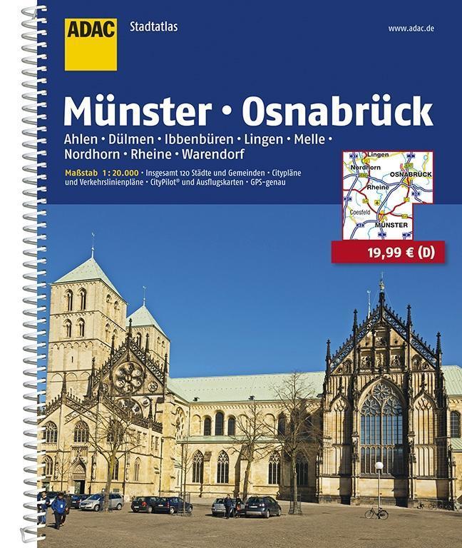 ADAC Stadtatlas Münster/Osnabrück mit Ahlen, Dü...